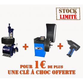 Lot de Démonte pneu automatique, Equilibreuse automatique BALANCER et clé à choc offerte pour 1 euro de plus