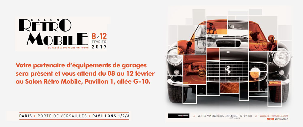 SEG - Equipements de garages au salon Rétro Mobile 2016